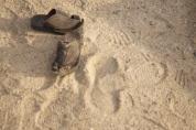 an empty foot prints