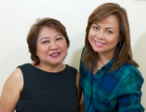 malou @55 and me @54 enjoying beauty beyond fifty!