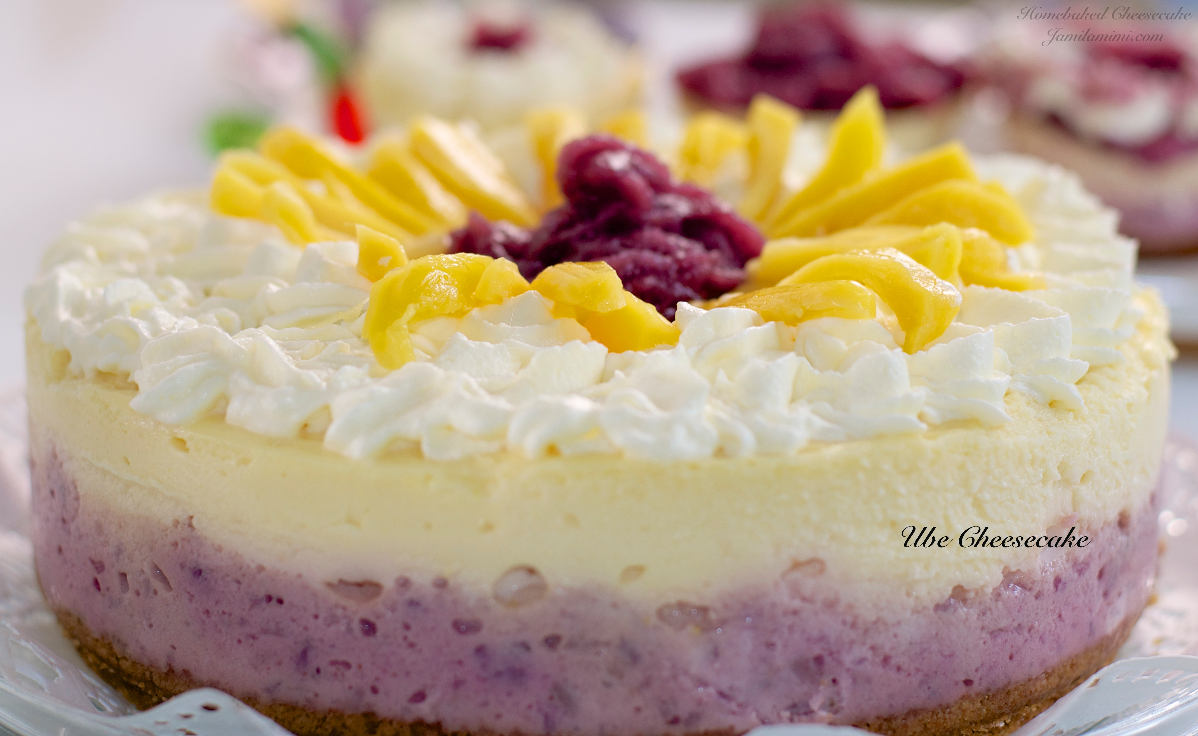 Home Baked Cheesecake Challenge Flavour 2 Ube Cheesecake
