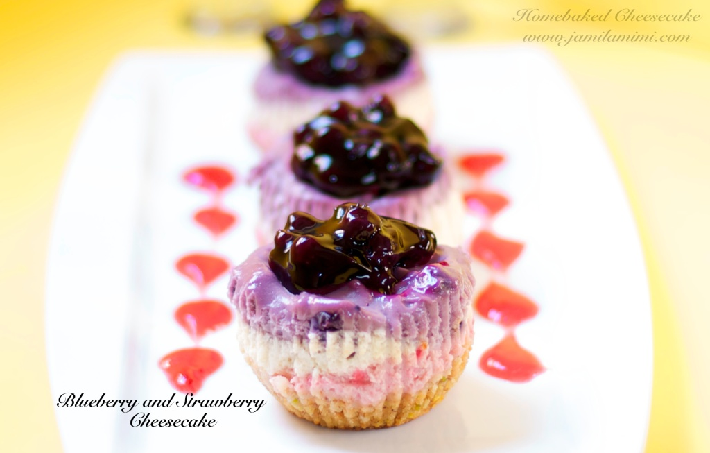 i also use the blueberry pie filling on top of this mini cheesecake