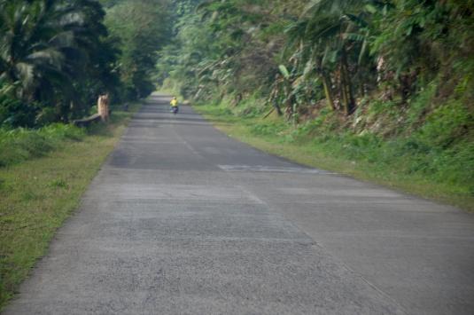 north bound concrete road