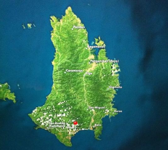 San Andres - Virac- Bato - Baras- Sagrada - Oco - Viga Payo- Bagamanoc-Soboc