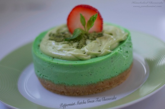 #26th Peppermint Matcha Green Tea Cheesecake
