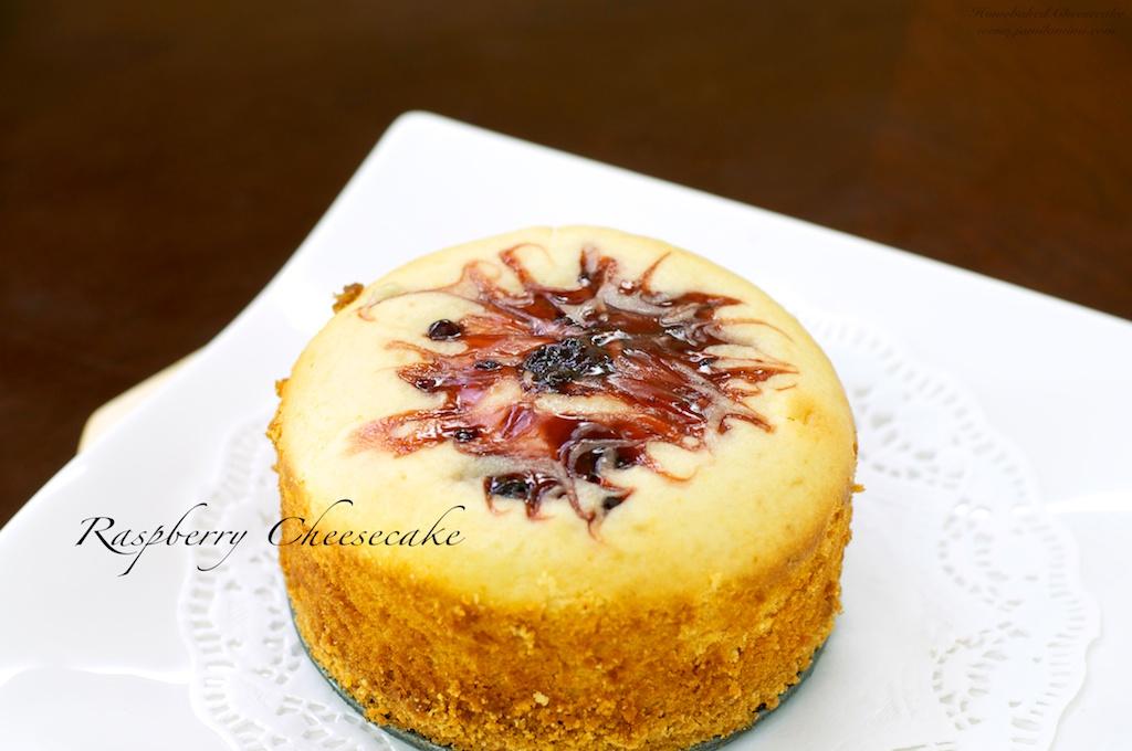 swirl raspberry on top