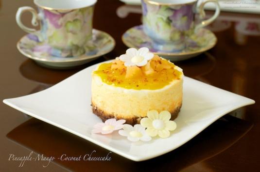Flavour#33 Pineapple Mango Coconut Cheesecake