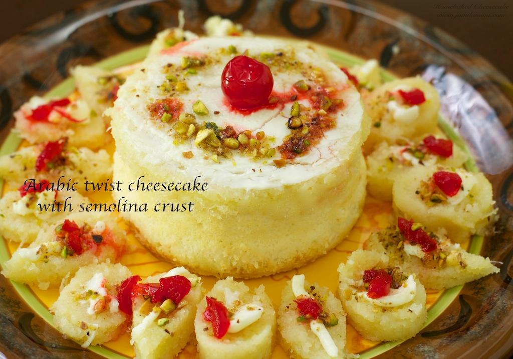 Flavour # 34 Arabic Twist Cheesecake with Semolina crust