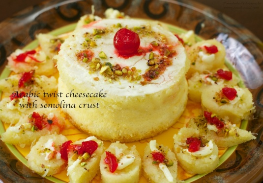 Flavour # 34 Arabic Twist Cheesecake with Semolina crust