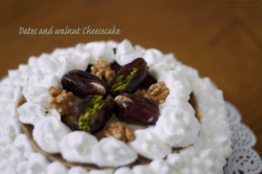 Flavour # 41 Dates and walnut Cheesecake