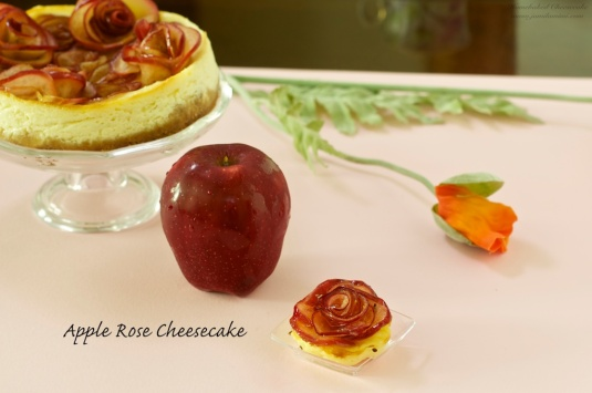 Flavour no. 45 Apple Rose Cheesecake