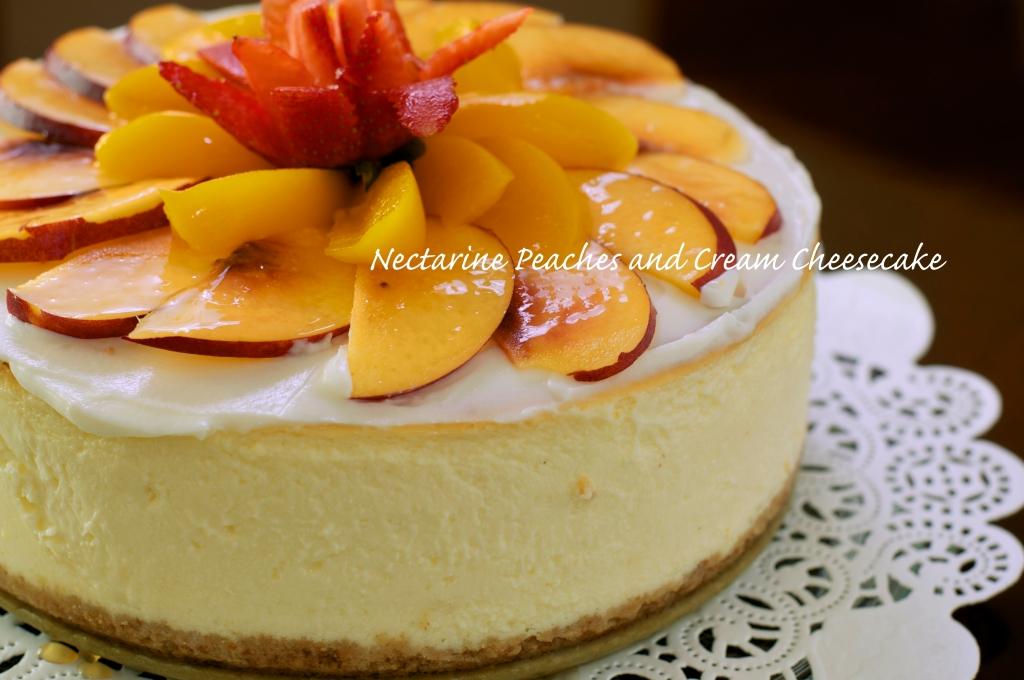 Nectarine with peaches and cream Cheesecake