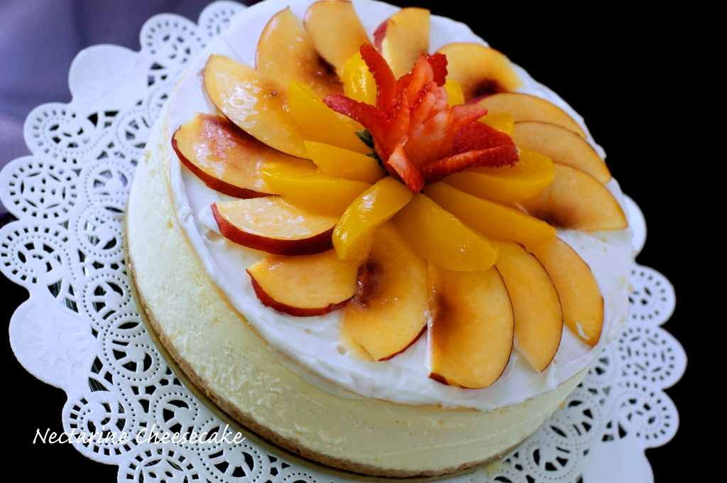 flavour # 42 Nectarine with peaches and cream Cheesecake