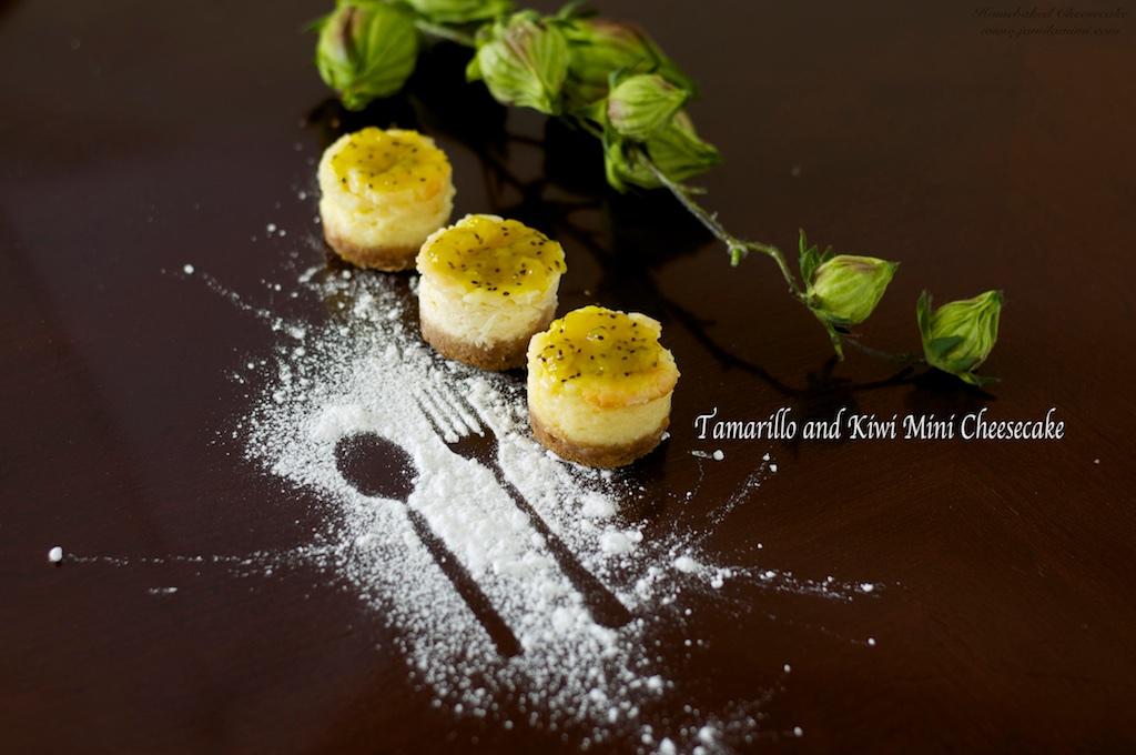 Flavour # 47 Tamarillo and Kiwi Mini Cheesecake