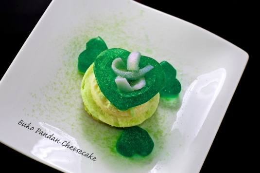 Flavour no 46  Buko Pandan Cheesecake