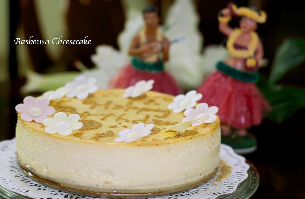 Flavour # 49  Basbousa Cheesecake