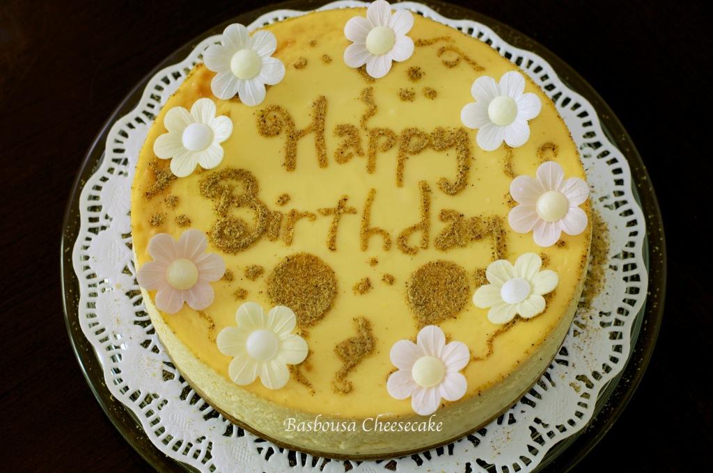 basbousa cheesecake