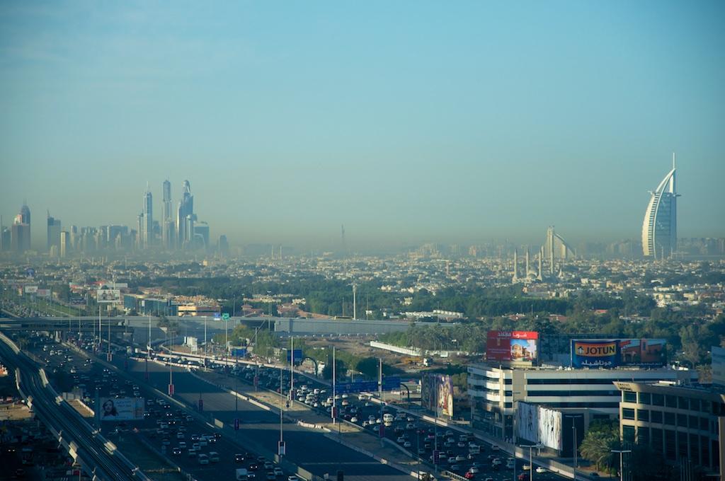 Burj Al Arab at a distance- early morning shot