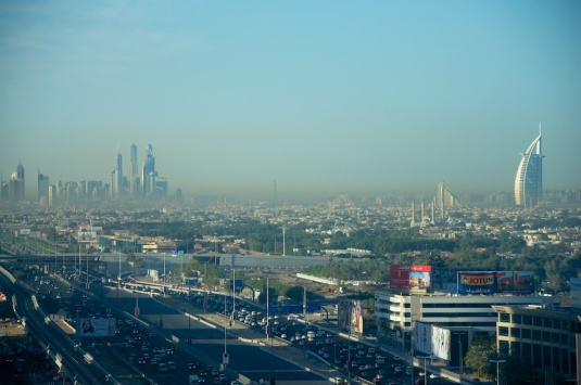 Burj Al Arab at a distance- early morning shot