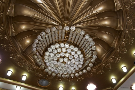 the ceilings looks like honeycomb :-)