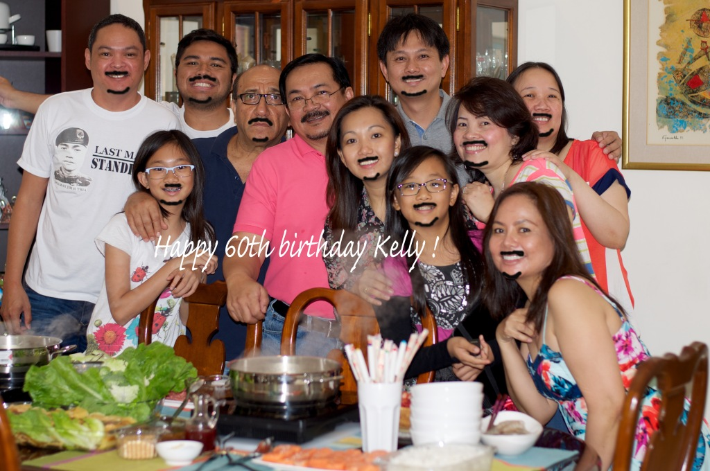 """celebrating with a trademark """"Kelly"""" moustache :-)"""