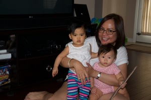 with my grandnieces ..Kaira and Emily Ann